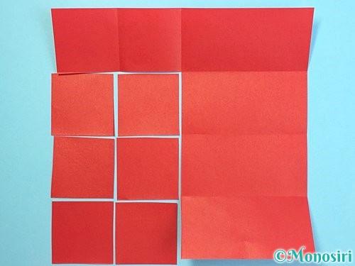 折り紙でクリスマスリースの作り方手順28
