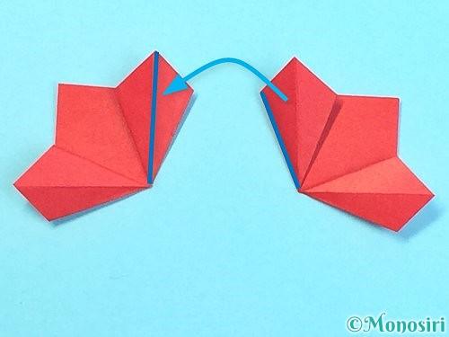 折り紙でクリスマスリースの作り方手順30