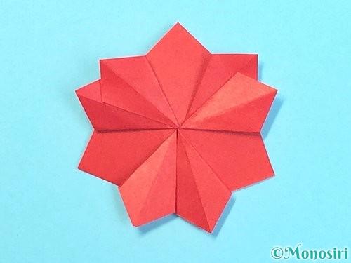 折り紙でクリスマスリースの作り方手順32
