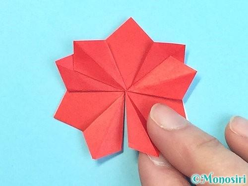 折り紙でクリスマスリースの作り方手順33