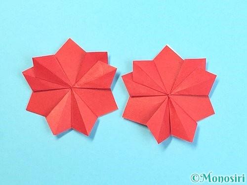折り紙でクリスマスリースの作り方手順34