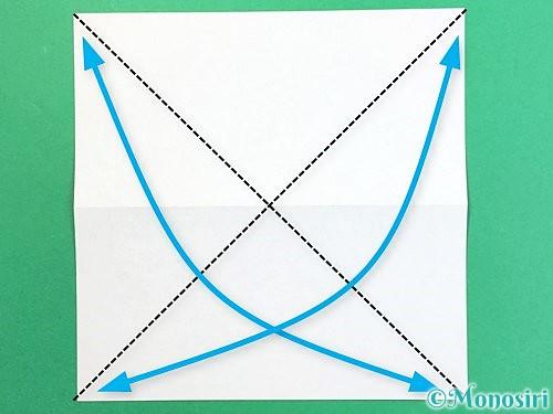 折り紙で鶴の箸置きの折り方手順4