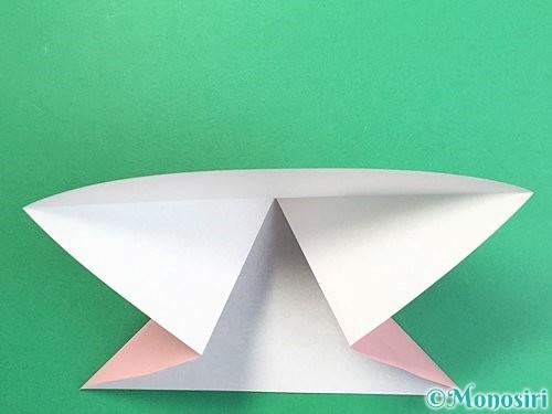折り紙で鶴の箸置きの折り方手順7