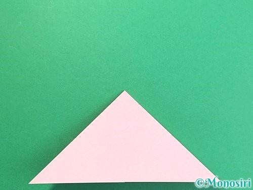 折り紙で鶴の箸置きの折り方手順8