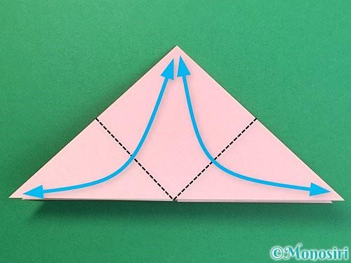 折り紙で鶴の箸置きの折り方手順9