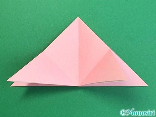 折り紙で鶴の箸置きの折り方手順10