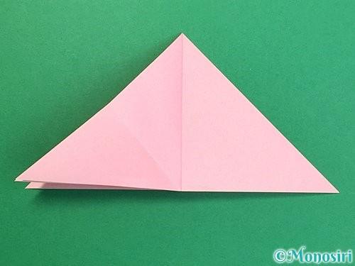 折り紙で鶴の箸置きの折り方手順12