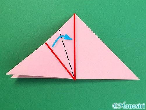 折り紙で鶴の箸置きの折り方手順13