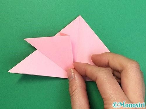 折り紙で鶴の箸置きの折り方手順14