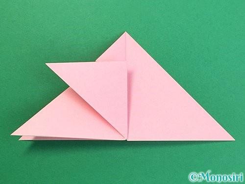 折り紙で鶴の箸置きの折り方手順15