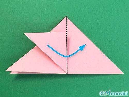 折り紙で鶴の箸置きの折り方手順16