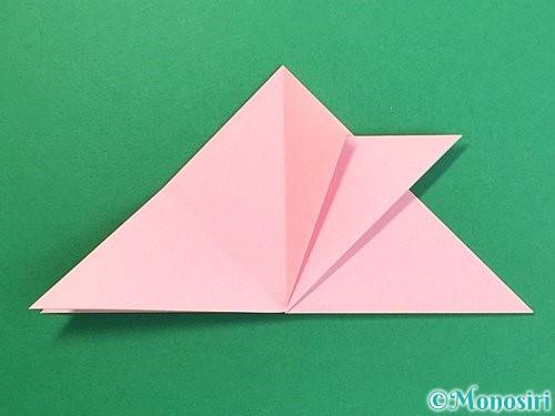 折り紙で鶴の箸置きの折り方手順17
