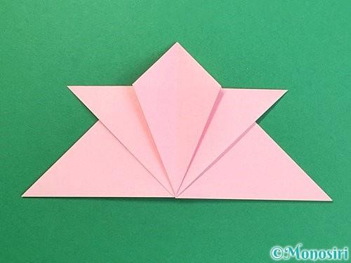 折り紙で鶴の箸置きの折り方手順18