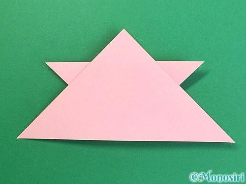 折り紙で鶴の箸置きの折り方手順19