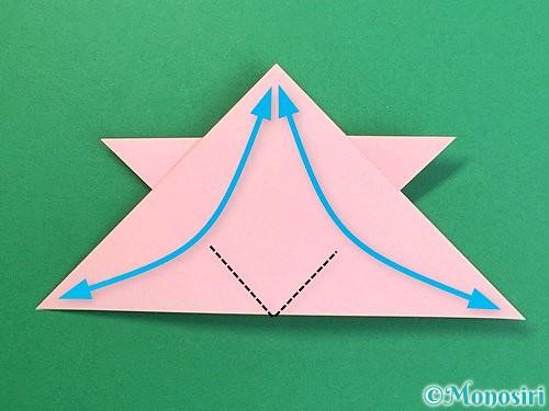 折り紙で鶴の箸置きの折り方手順20