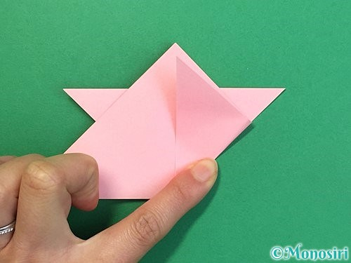 折り紙で鶴の箸置きの折り方手順21