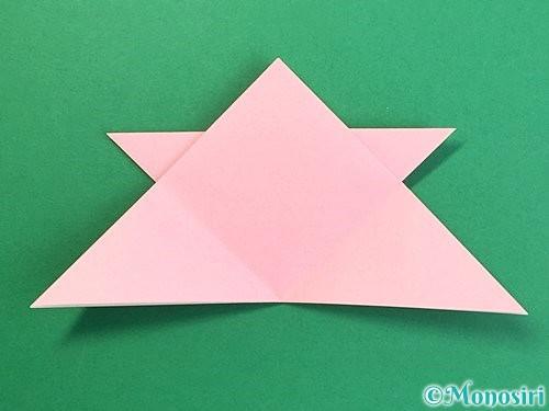 折り紙で鶴の箸置きの折り方手順22