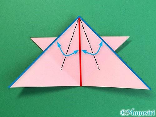 折り紙で鶴の箸置きの折り方手順23