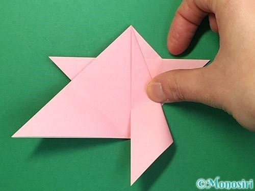 折り紙で鶴の箸置きの折り方手順24