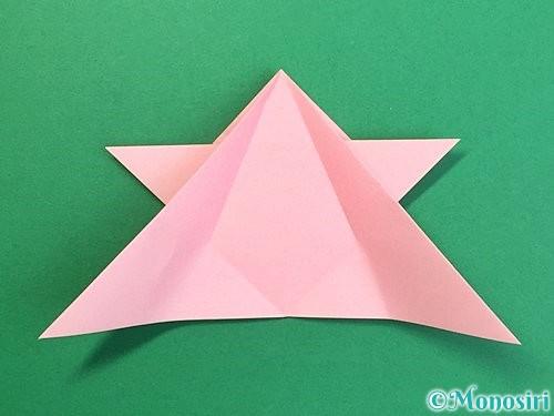 折り紙で鶴の箸置きの折り方手順25