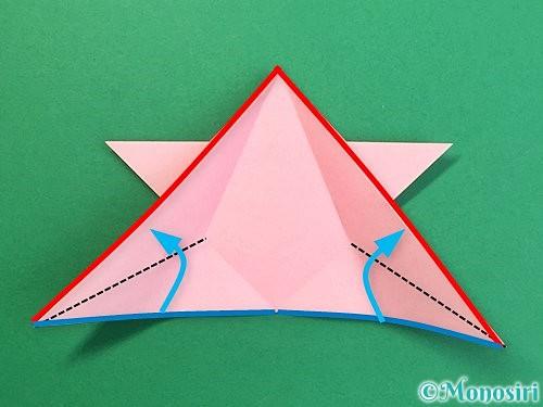 折り紙で鶴の箸置きの折り方手順26