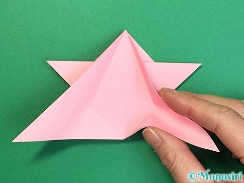 折り紙で鶴の箸置きの折り方手順27