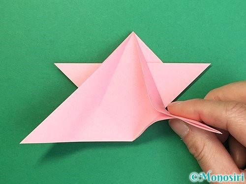 折り紙で鶴の箸置きの折り方手順28