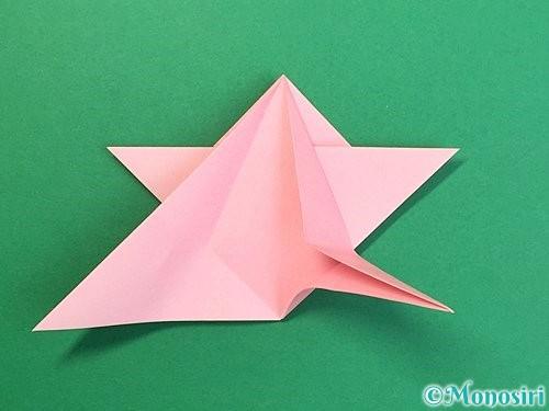 折り紙で鶴の箸置きの折り方手順29