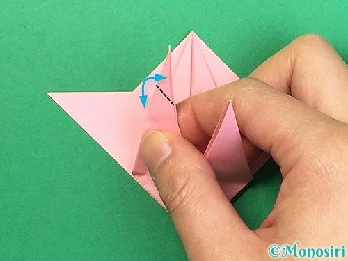 折り紙で鶴の箸置きの折り方手順31