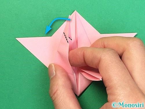 折り紙で鶴の箸置きの折り方手順33
