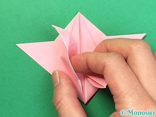 折り紙で鶴の箸置きの折り方手順34