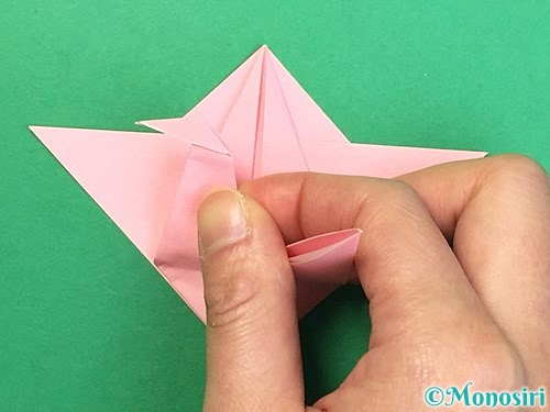 折り紙で鶴の箸置きの折り方手順35