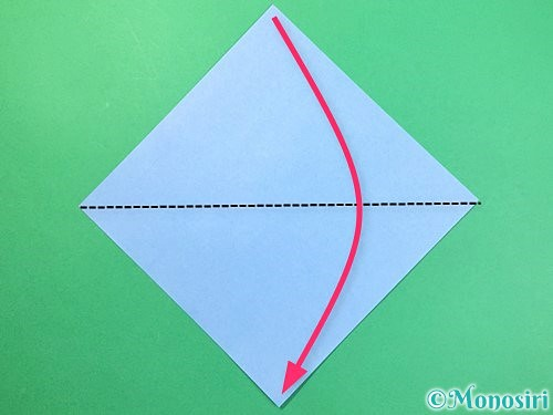 折り紙で立体的な富士山の折り方手順1