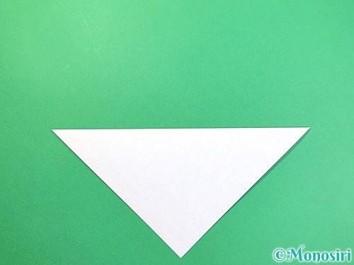 折り紙で立体的な富士山の折り方手順2