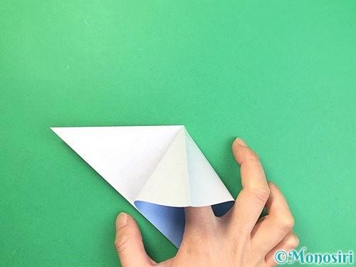 折り紙で立体的な富士山の折り方手順6