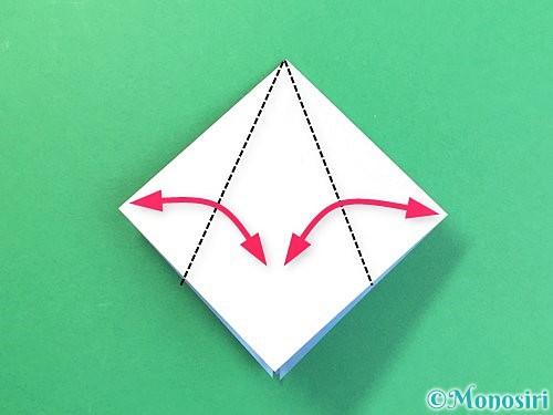 折り紙で立体的な富士山の折り方手順10
