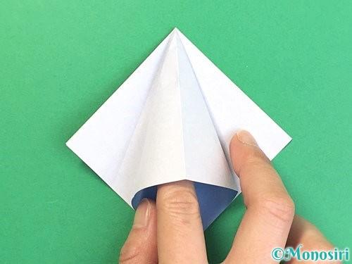 折り紙で立体的な富士山の折り方手順14