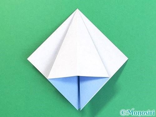 折り紙で立体的な富士山の折り方手順15