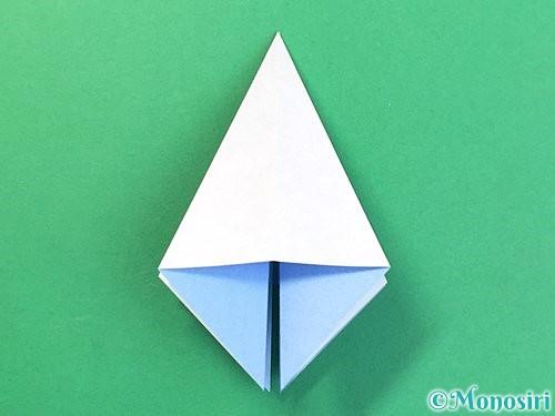 折り紙で立体的な富士山の折り方手順16