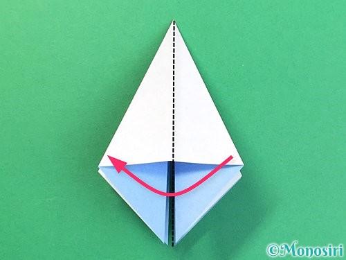 折り紙で立体的な富士山の折り方手順17