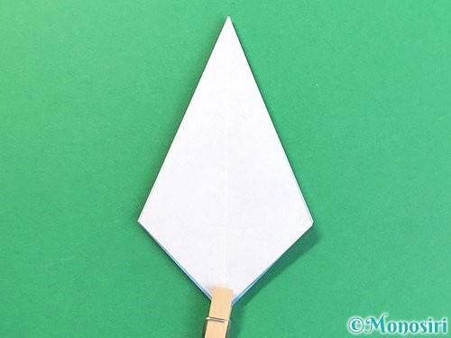 折り紙で立体的な富士山の折り方手順18