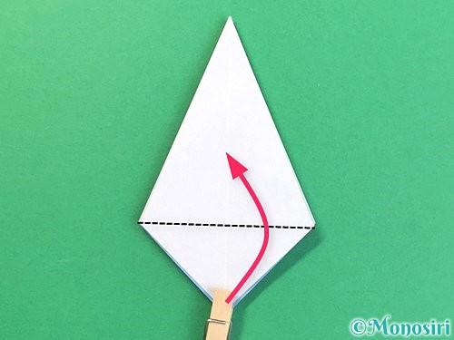 折り紙で立体的な富士山の折り方手順19