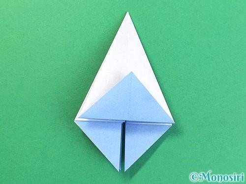 折り紙で立体的な富士山の折り方手順20