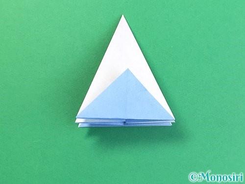 折り紙で立体的な富士山の折り方手順21