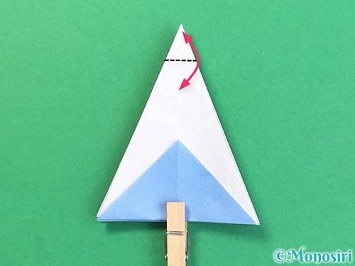 折り紙で立体的な富士山の折り方手順22