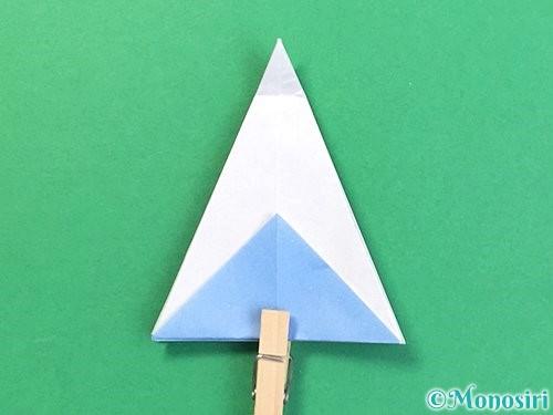 折り紙で立体的な富士山の折り方手順23