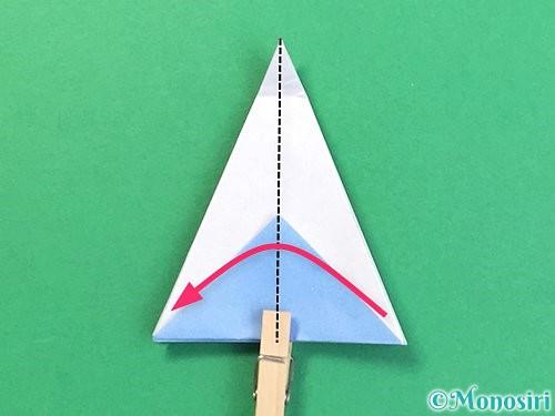 折り紙で立体的な富士山の折り方手順24