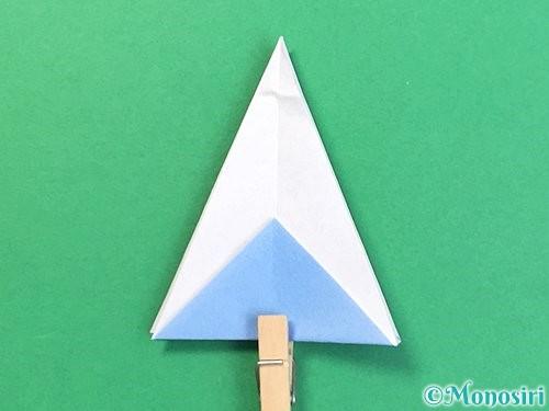 折り紙で立体的な富士山の折り方手順25