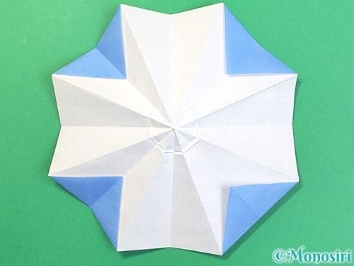 折り紙で立体的な富士山の折り方手順26