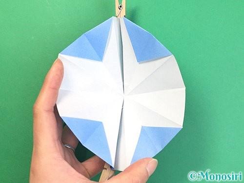 折り紙で立体的な富士山の折り方手順28